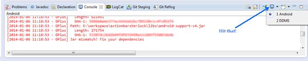 android_development_Eclipse_console_error