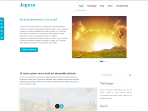 Free Responsive WordPress theme | Jaguza